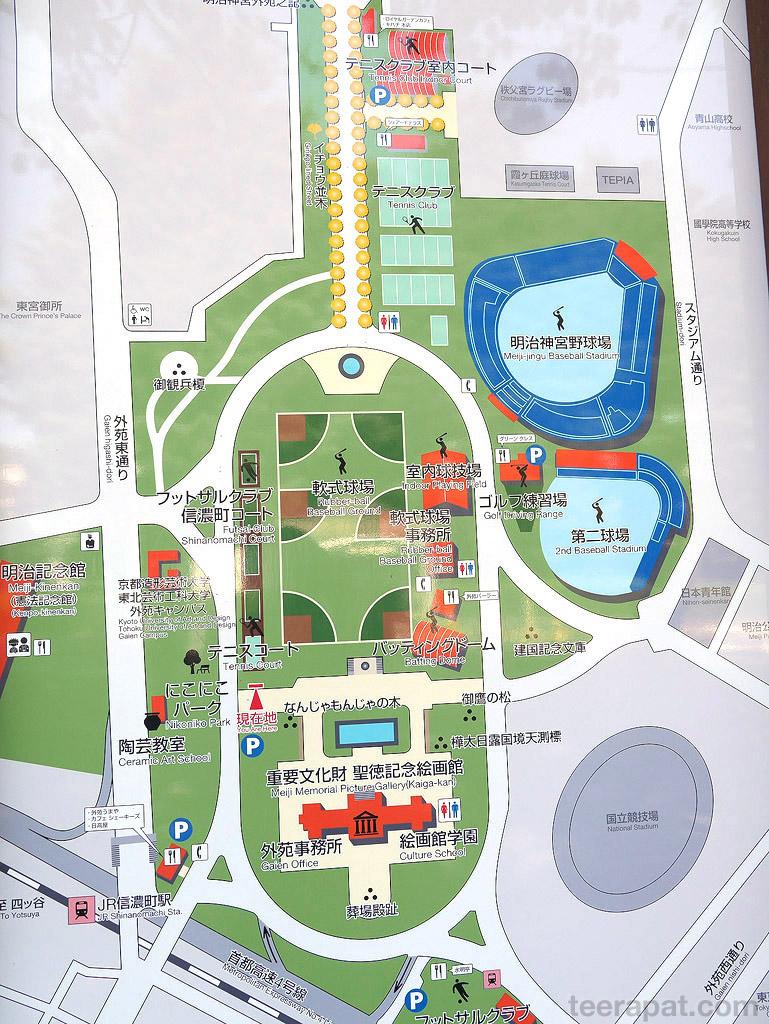 แผนที่ของโซนที่จัดงานครับ ตัวงานจริงๆอยู่ตรง Baseball Ground เข้างานทางประตูที่มีน้ำพุ