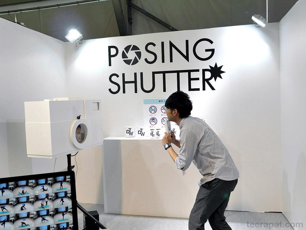 Posing shutter เหมือนกับจะเป็นเครื่องถ่ายรูปเวลาออกงาน